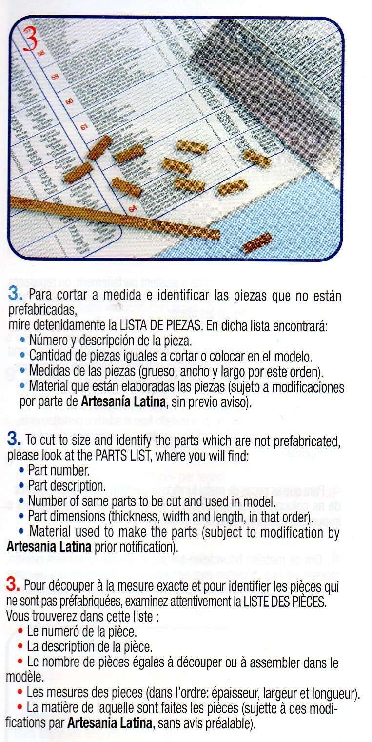 Le Renard échelle 1/50 kit Artesania Latina Img26310