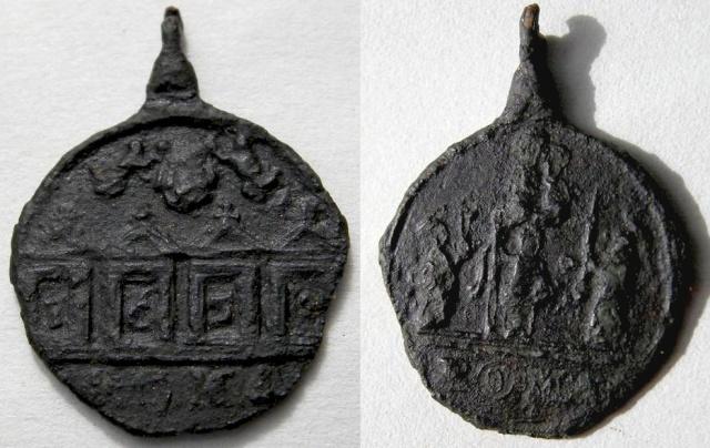 Sta Mª la Mayor S. Pedro  S. Pablo y S. Juan B. / Cuatro Puertas Santas de Roma - s. XVII 1650_j11