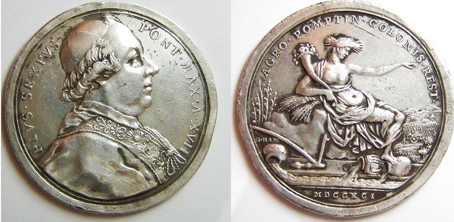 PIVS VI ( Pio VI) /  Gioacchino Hamerani 1791_p10