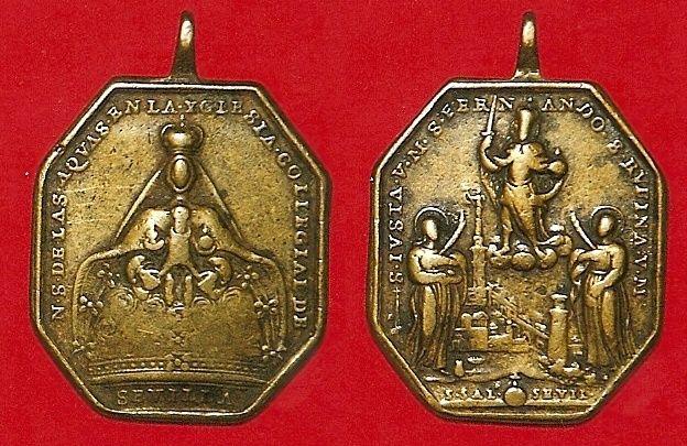 Inédita medalla de San Fernando - Santas Justa y Rufina / Virgen de Las Aguas S-XVIII Aguas_10
