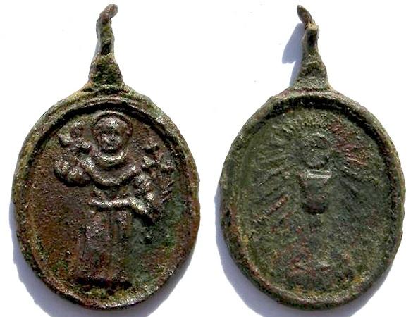 Medalla de San Antonio de Padua / Santísimo Sacramento - s. XVII Antoni10