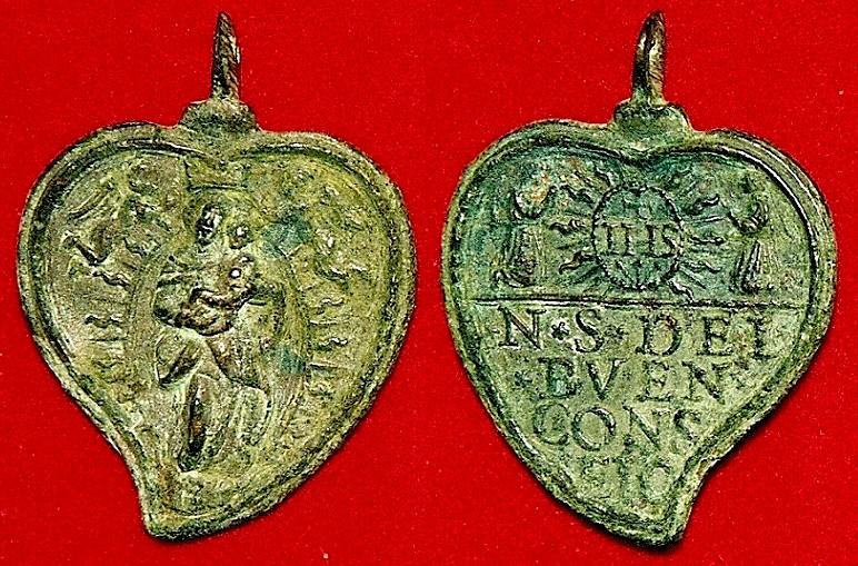 Medalla de Nª Sª del Buen Consejo / Inscripcion - s. XVII Buen_c10