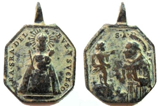 Medalla de Nª Sª del Buen Suceso / S. Antonio de Padua - s. XVIII Buen_s11