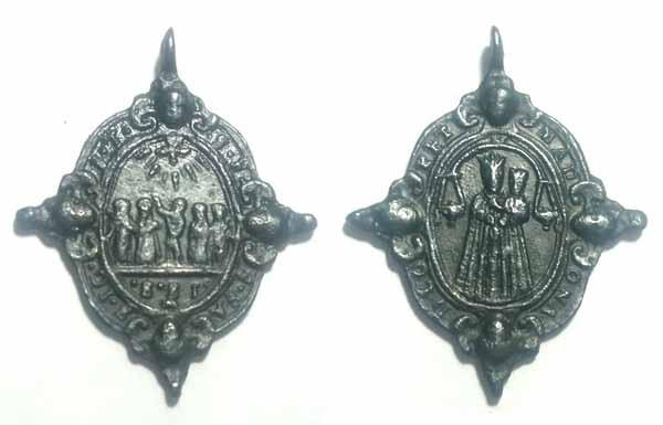 Recopilación medallas Orden Carmelitas Descalzas: Santa Teresa de Jesús Corsin10