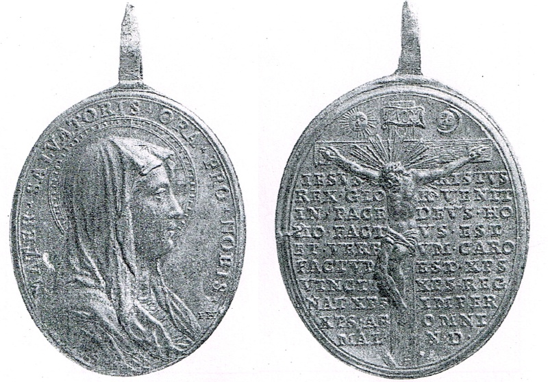 MATER SALVATORIS / Cristo crucificado y oración (ZECCA-35) Crucif17