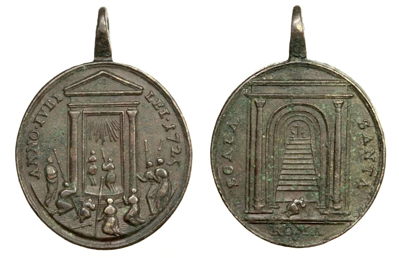 Medalla del Jubileo Romano de 1725  Puerta Santa / Escala Santa (R.M. SXVIII-O291) D036_d10