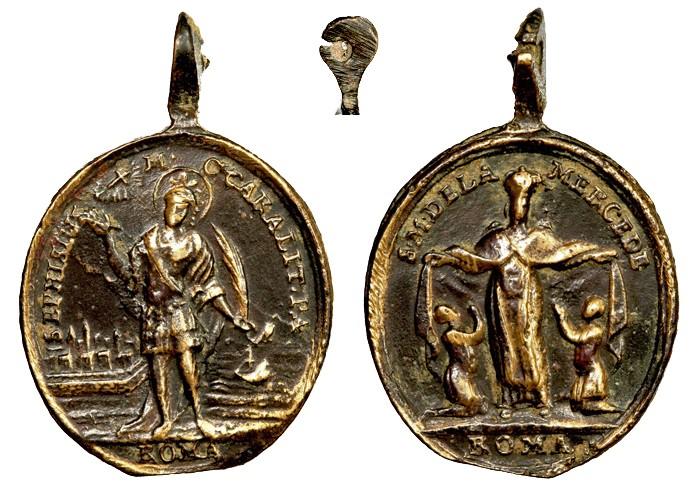San Efisio de Elia / Virgen de La Merced  XVII-XVIII (R.M. SXVII-O380) Efisio11