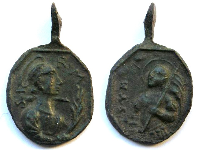 Medalla S. Venancio de C. / Sta. Irene de T. - s. XVIII Irene_10