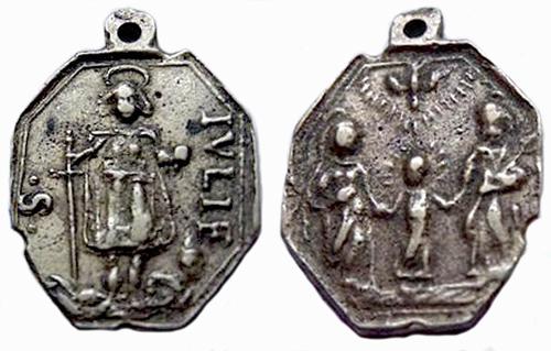 Medalla de La Sagrada Familia / S. Julián - s. XVII (R.M. Pe Julian de rioude 1) Julia_10