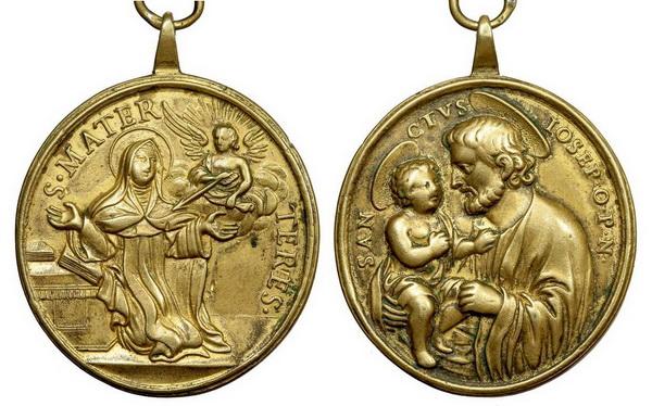 Recopilación medallas Orden Carmelitas Descalzas: Santa Teresa de Jesús Julius10
