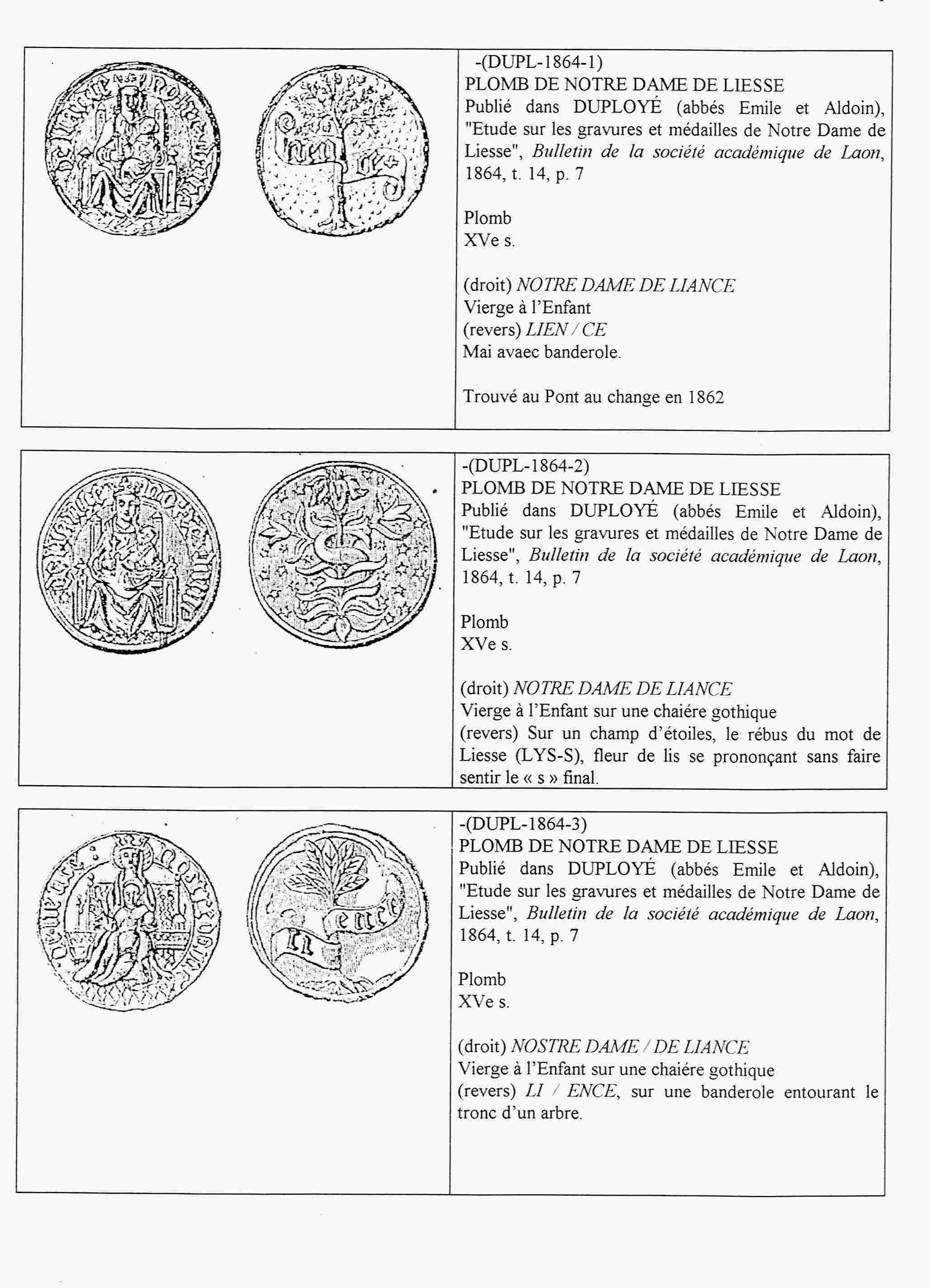 N. D. LIESSE/OTRAS ICOGRAFIAS. N.D. DU PUY. Liesse15