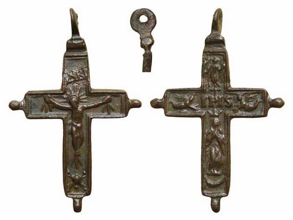Cruz  bifaz  Inmaculada con pezuelos  S-XVII– CC(020) [Pec015/S-XVII]* Pec01510