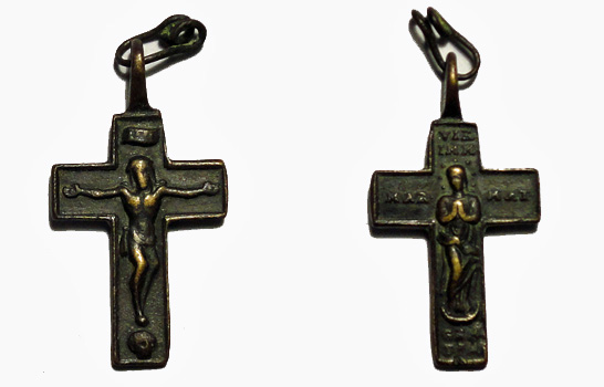 Cruz pectoral bifaz Inmaculada.  S-XVIII - [Pec015/S-XVIII]* S-xvii10