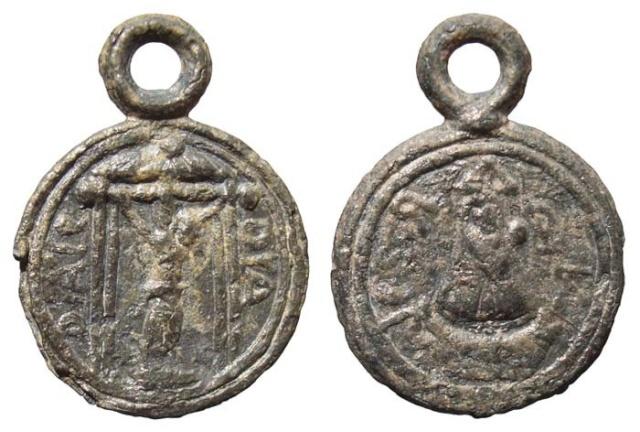 Medalla pequeña de plomo - MR(183) Sxvii-10