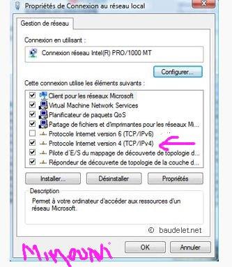 Configurer votre connection Internet Wifi routeur etc .. Reseau10