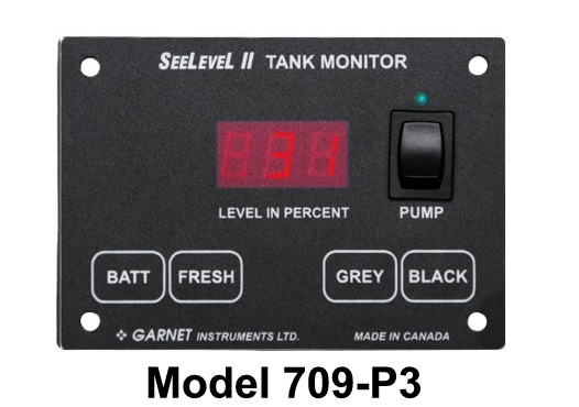 Nouveauté pour 2016, moniteur de réservoir et batterie SeeLevel II de Garnet Model 709-P3. 709-p310
