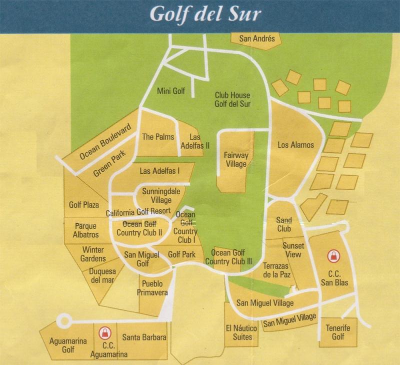 Golf Del Sur Map Mapa-g10