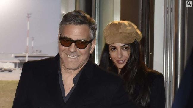 George Clooney & Amal arrive in Berlin 10.02.2016 Aa210