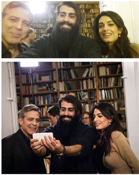 George Clooney and Amal meeting with Refugees Bb10