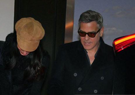 George Clooney & Amal arrive in Berlin 10.02.2016 Oo10