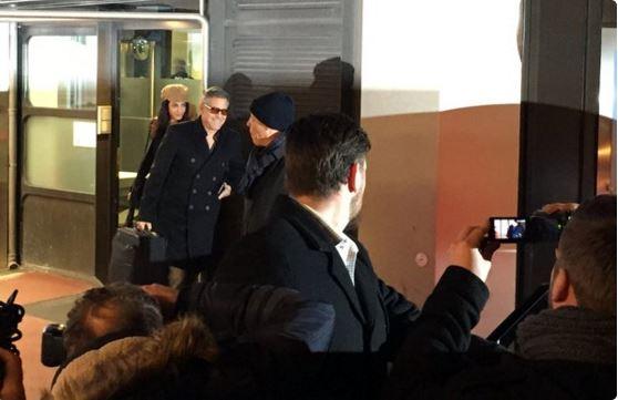 George Clooney & Amal arrive in Berlin 10.02.2016 Oo210