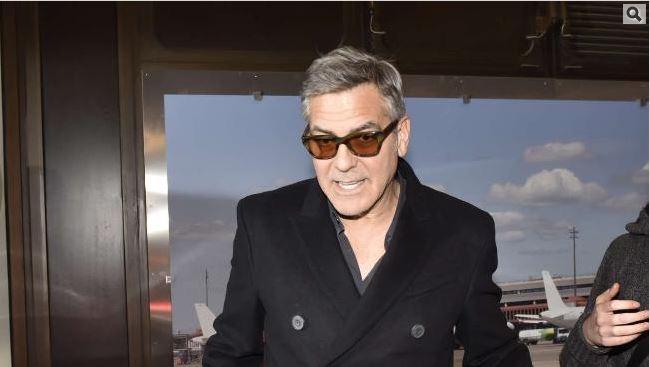George Clooney & Amal arrive in Berlin 10.02.2016 Oo310