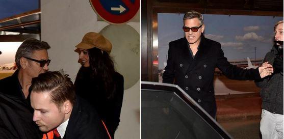 George Clooney & Amal arrive in Berlin 10.02.2016 Oo510