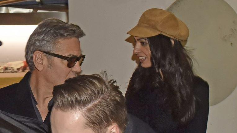 George Clooney & Amal arrive in Berlin 10.02.2016 Oo710