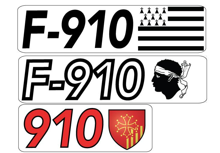 Numéros Voiles - Kit Adhésif Tipo210