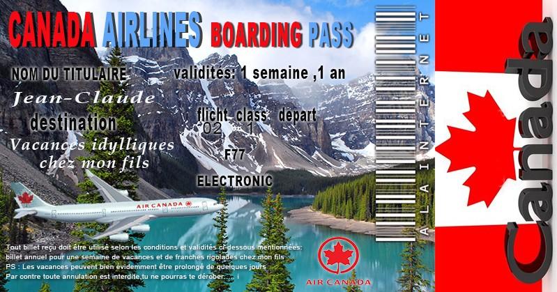 Destination le CANADA Billet10
