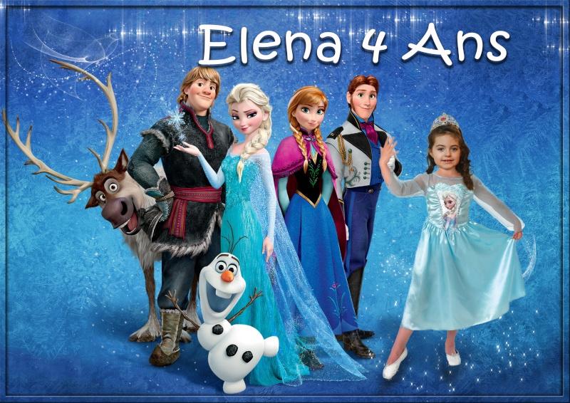 Montage carte anniversaire la reine des neiges Elena111
