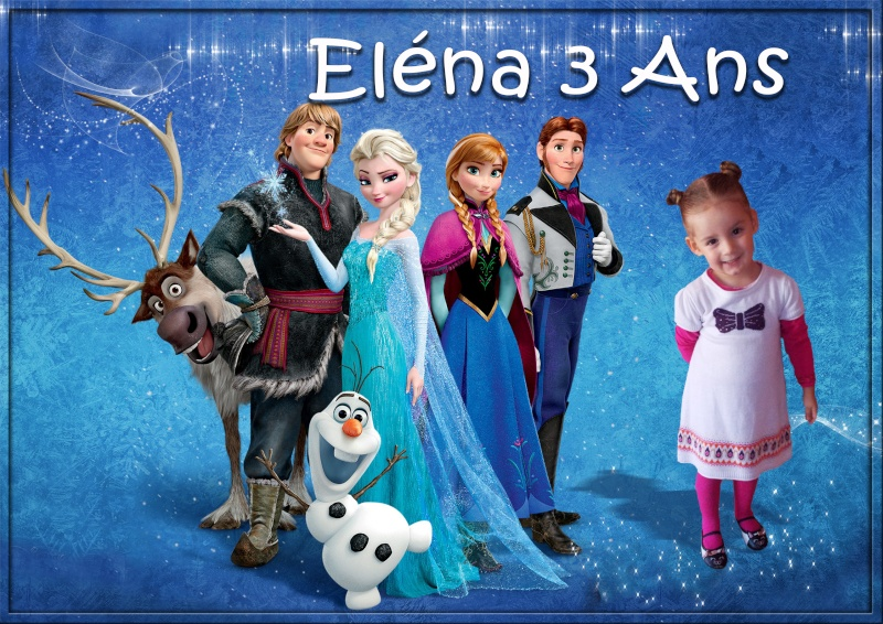 demande d'un montage anniversaire reine des neiges Elena310