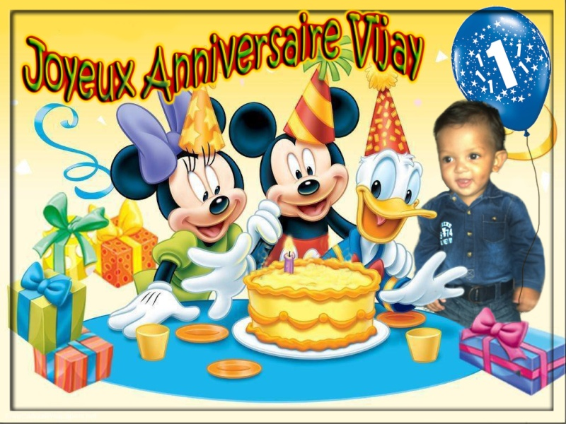 demande de montage photo pour anniversaire theme mickey Mickey11