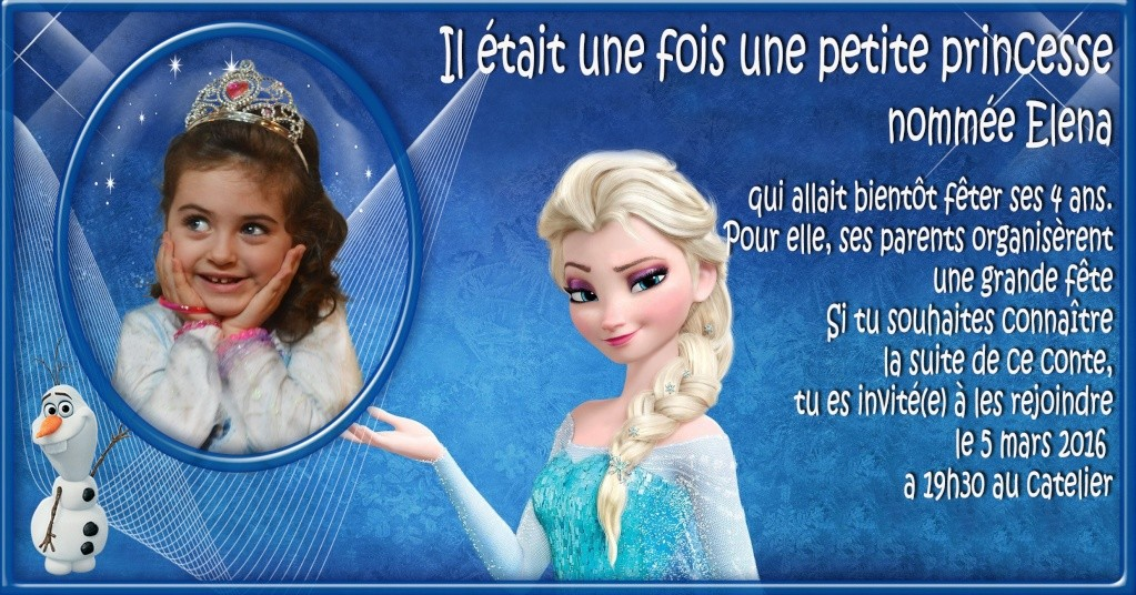 Montage carte anniversaire la reine des neiges Prince10