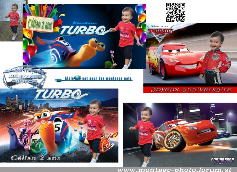 Carte anniversaire thème Car's Sans_t21
