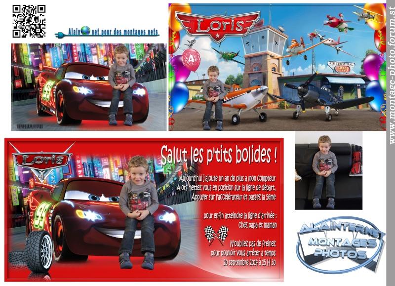 Carte anniversaire thème Car's Sans_t24
