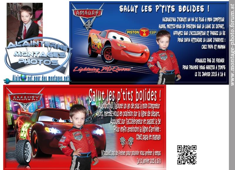 Carte anniversaire thème Car's Sans_t26