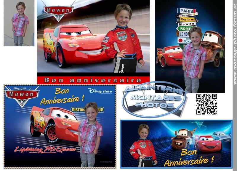 Carte anniversaire thème Car's Sans_t28