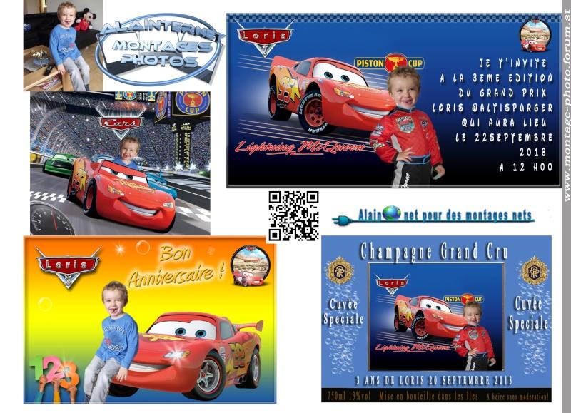 Carte anniversaire thème Car's Sans_t29