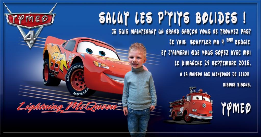 Carte anniversaire thème Car's Sans_t37