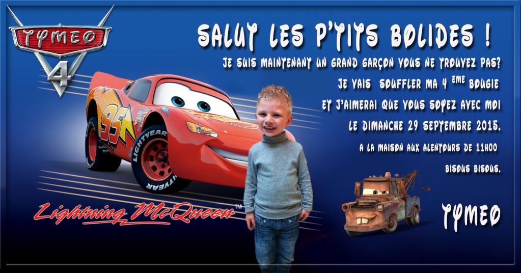 Carte anniversaire thème Car's Sans_t38