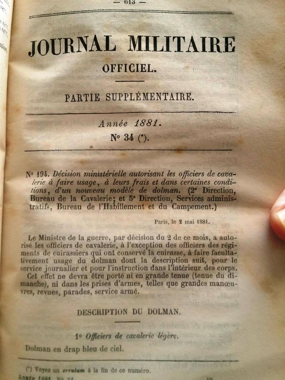 Le dolman dans l'armée française 1872-1914 1p6pw110