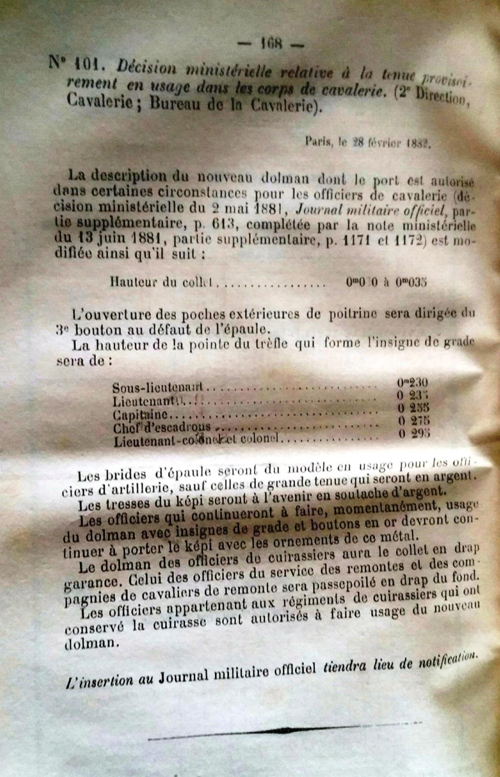 Le dolman dans l'armée française 1872-1914 20160715