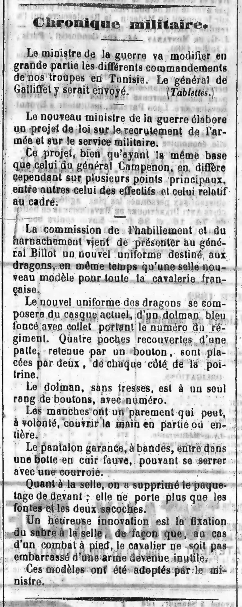 Le dolman dans l'armée française 1872-1914 Dolman12