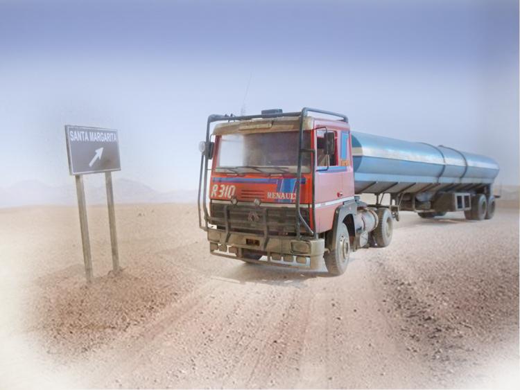 Renault 310 Italeri mit Tanktrailer 1:24 --Wasser für Santa Margerita Fa0610