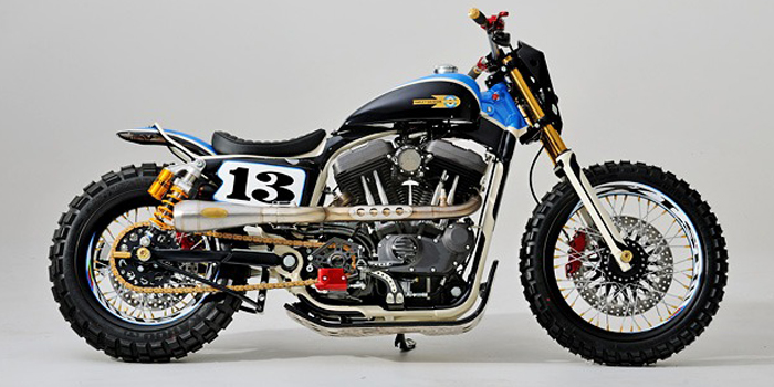 Le scrambler Sportster Custom XLST3 Harley17
