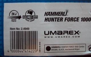 Hämmerli Hunter Force 1000 + lunette Hämmerli 6 x 42 Hammer19