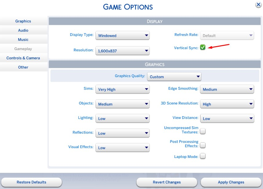 The Sims 4 crashes/freezes/lags/causes shutdowns, possible fixes.  Vsync210