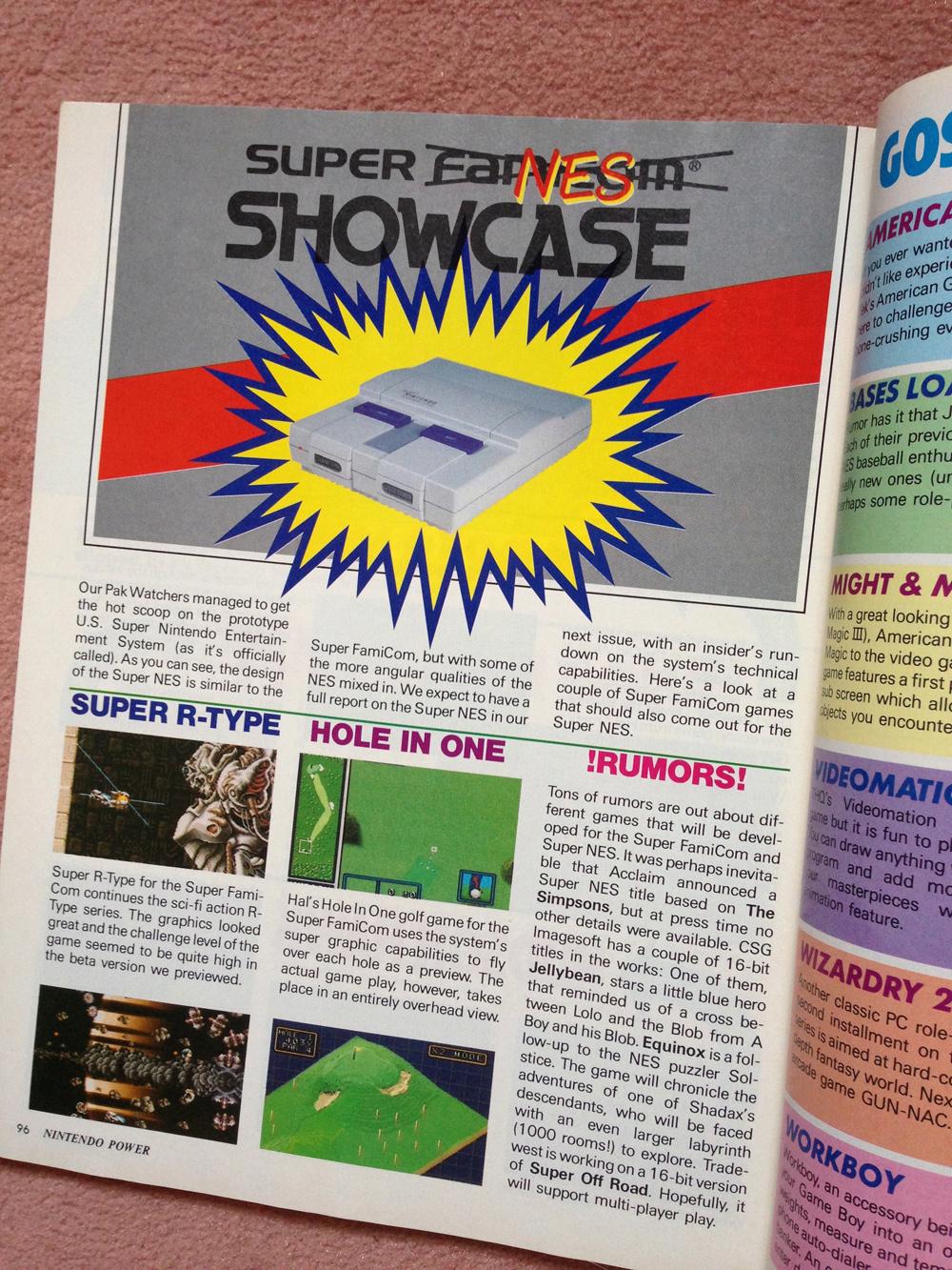 L'avant Super NES : la montée de la hype dans NINTENDO POWER aux US ! Np0310