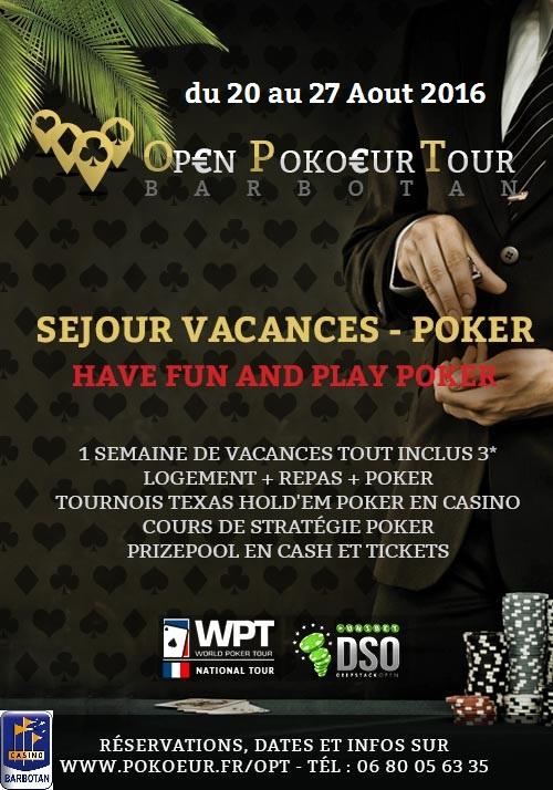 OPEN POKOEUR TOUR 2016 - Vacances Poker estivales Affich10